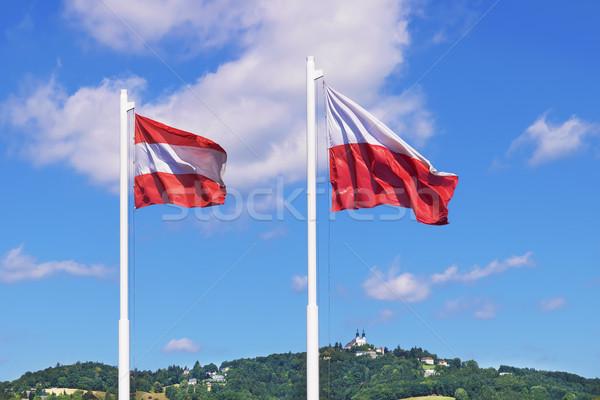 Austria flags Linz Stock photo © w20er