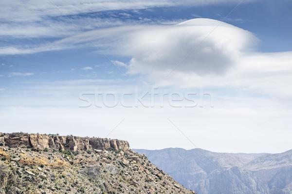 Panorama Oman immagine plateau strada natura Foto d'archivio © w20er