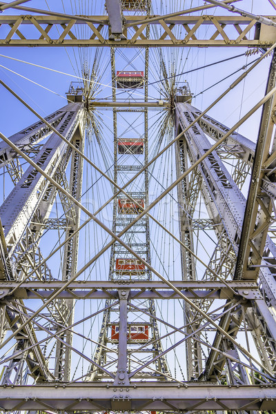 Metal construction ferris wheel Vienna Stock photo © w20er