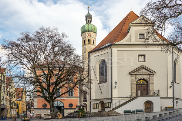Church in a small town in Germany Stock photo © w20er