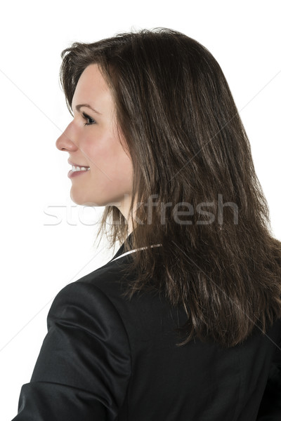 Business woman in dark suit Stock photo © w20er