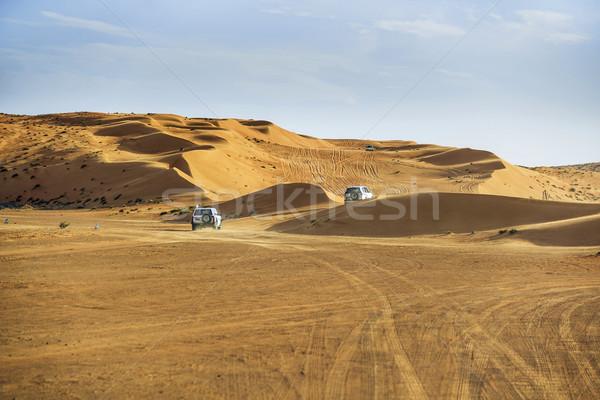 Af weg auto afbeelding woestijn Oman Stockfoto © w20er