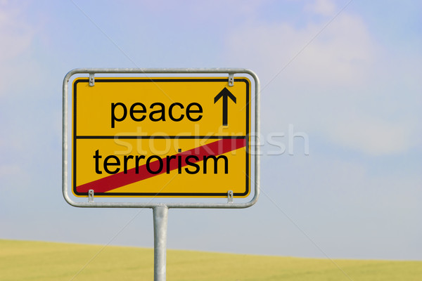 Sign terrorism peace Stock photo © w20er