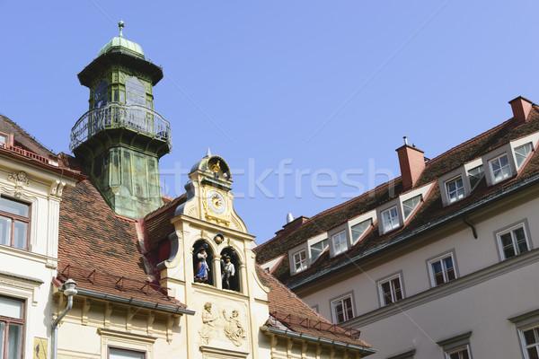 Historisch Graz Oostenrijk afbeelding hemel huis Stockfoto © w20er