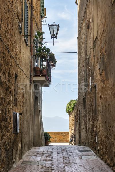 Narrow alley Pienza Stock photo © w20er