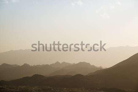 Gün batımı dağlar Umman görüntü yol doğa Stok fotoğraf © w20er