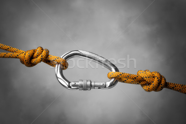 carabiner with rope Stock photo © w20er