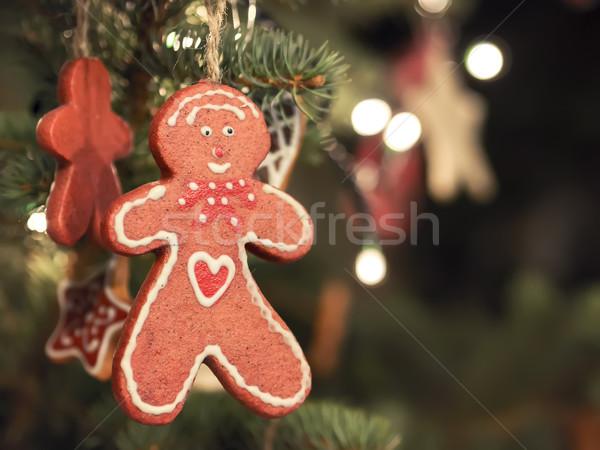 Gingerbread man Christmas Market Stock photo © w20er