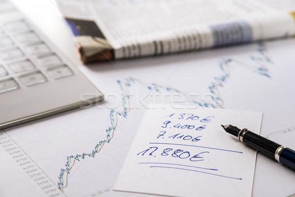 Stock photo: stock exchange earnings