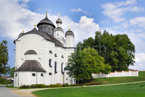 Peregrinação igreja quadro Alemanha paisagem arte Foto stock © w20er