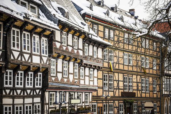 Primer plano casas Alemania edificio luz ventana Foto stock © w20er