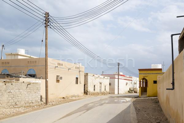 Köy Umman görüntü güç kaynağı hat sokak Stok fotoğraf © w20er