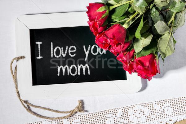 slate blackboard love mom Stock photo © w20er