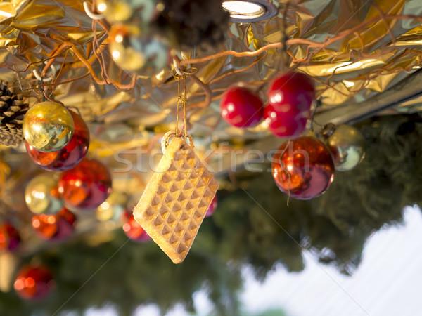 Gofret dekorasyon Noel pazar görüntü iş Stok fotoğraf © w20er