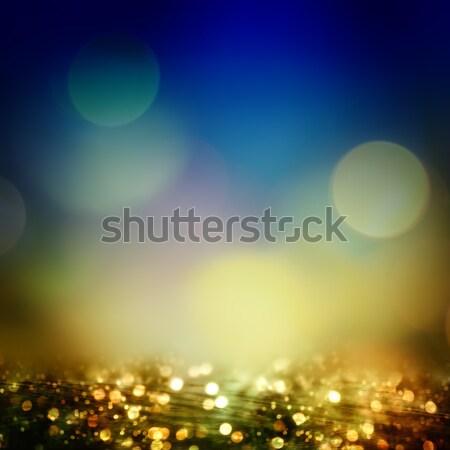 Niebieski ocean ilustracja obraz plaży niebo Zdjęcia stock © w20er