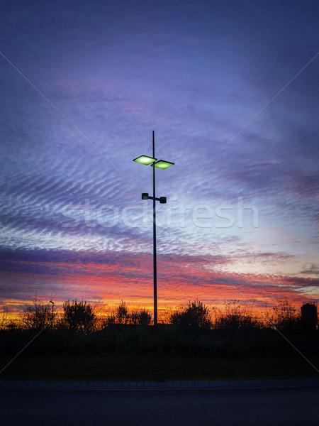 Modern streetlamp at sunset Stock photo © w20er