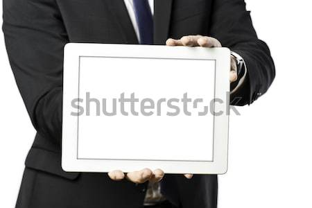 business man holds a tablet computer Stock photo © w20er