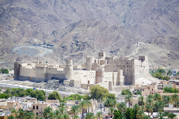 форт Оман Ближнем Востоке стены пустыне горные Сток-фото © w20er