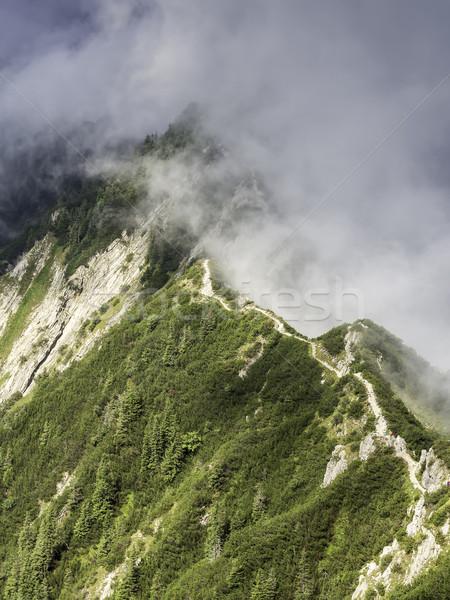 Stock photo: Hiking on a ridge from Herzogstand to Heimgarten