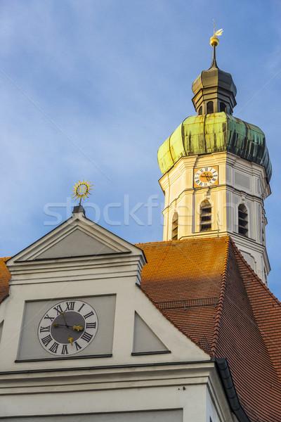 Church with evening sun Stock photo © w20er