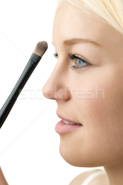 closeup makeup applying  Stock photo © w20er