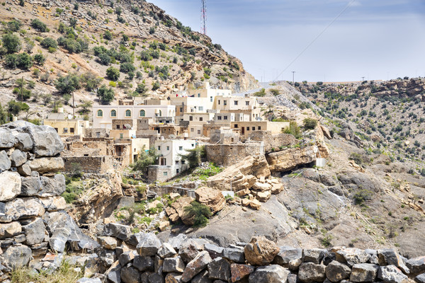Village on Saiq Plateau Stock photo © w20er