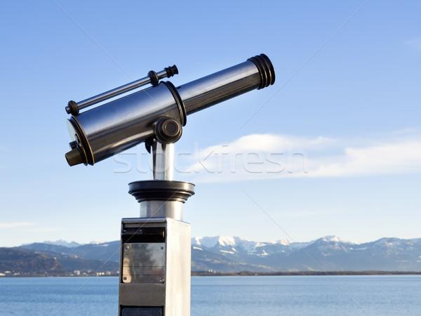 Telescoop alpen afbeelding glas Blauw reizen Stockfoto © w20er