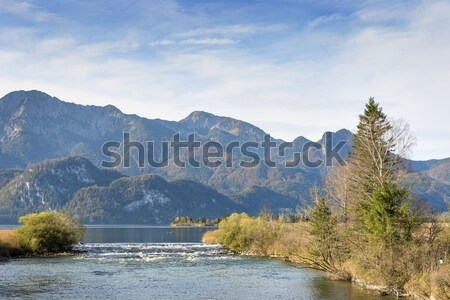 River Loisach with alps in Bavaria Stock photo © w20er