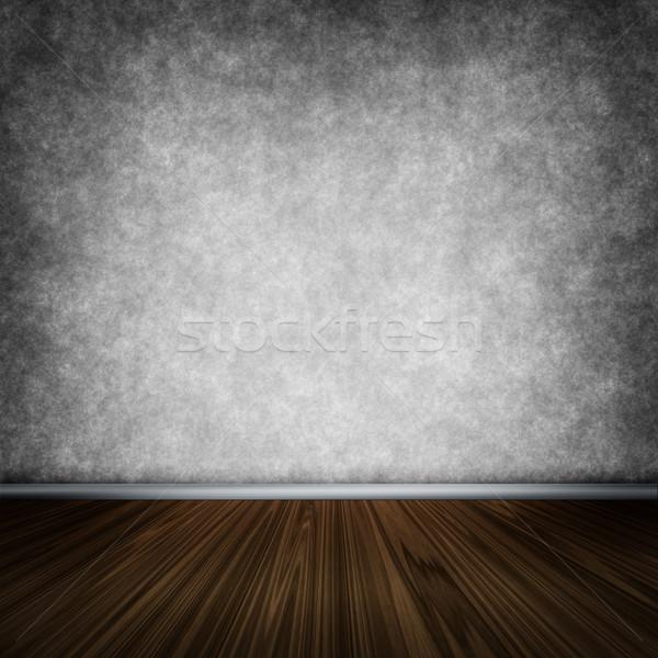 Sötét szoba fapadló kép fal otthon Stock fotó © w20er