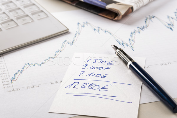 Note exchanges of revenue Stock photo © w20er