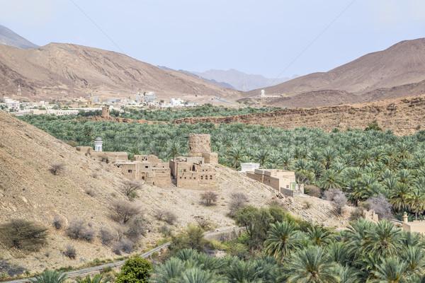 Widoku błoto obraz Oman niebo krajobraz Zdjęcia stock © w20er