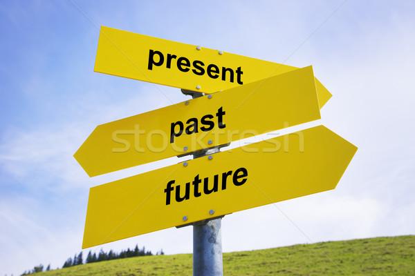 Present, past, future arrow signs  Stock photo © w20er