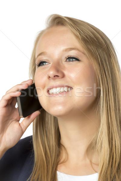 Blond phoning woman Stock photo © w20er