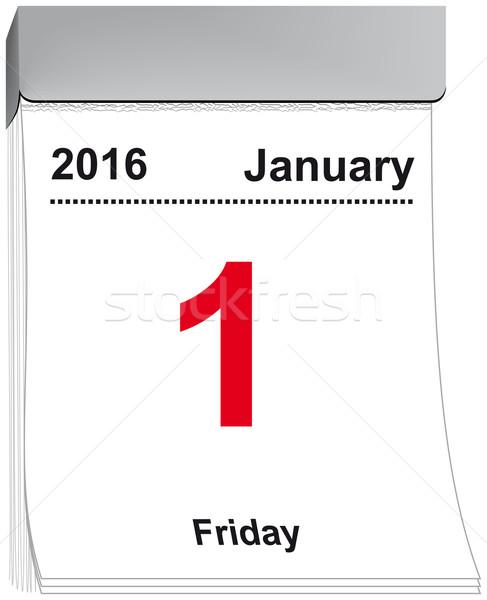 tear off calendar January 1, 2016 Stock photo © w20er