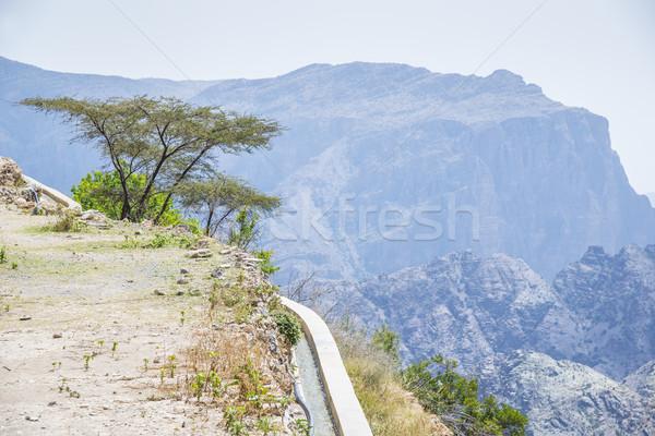 Víz házhozszállítás Omán kép tájkép fennsík Stock fotó © w20er
