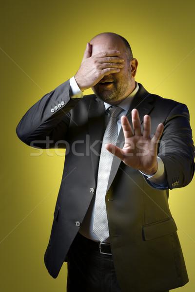 деловой человек бизнесмен темно костюм Сток-фото © w20er