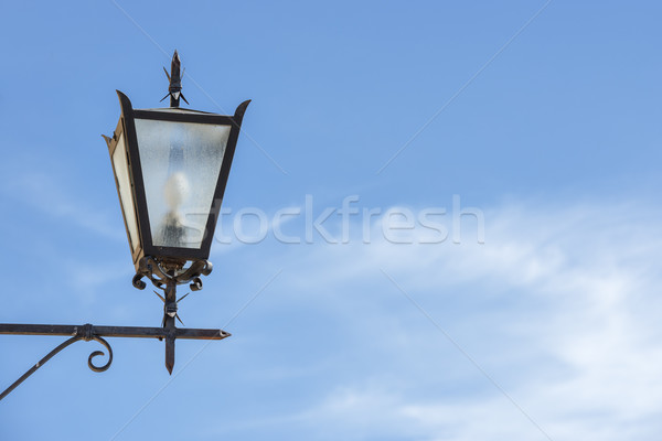 Lamp with blue sky Stock photo © w20er