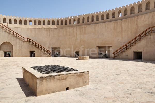 Top fort afbeelding boom Blauw reizen Stockfoto © w20er
