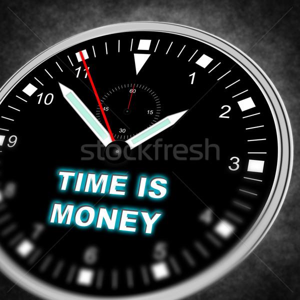 Illustratie horloge tekst tijd ruimte lopen Stockfoto © w20er