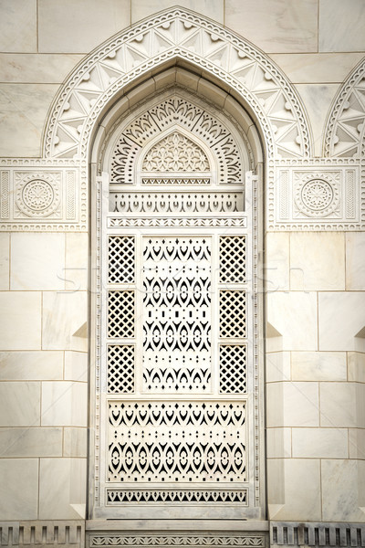 Closeup Grand Sultan Qaboos Mosque Stock photo © w20er