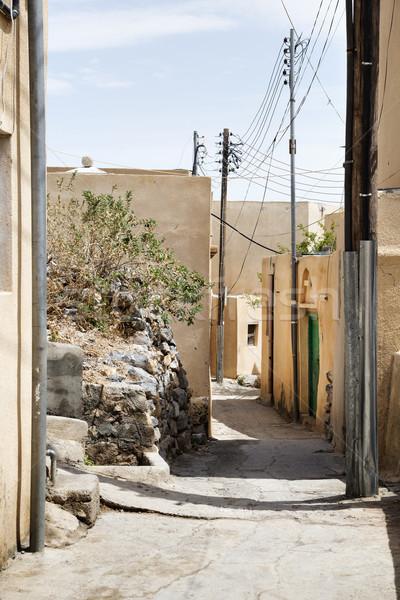 Utcák fennsík kicsi falu Omán út Stock fotó © w20er