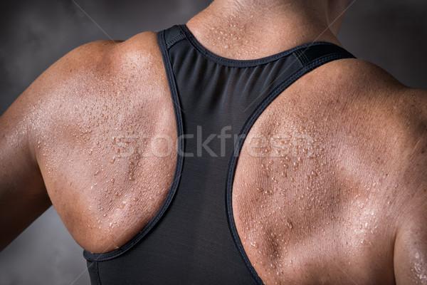 Képzett hát középkorú nő kép nő test Stock fotó © w20er