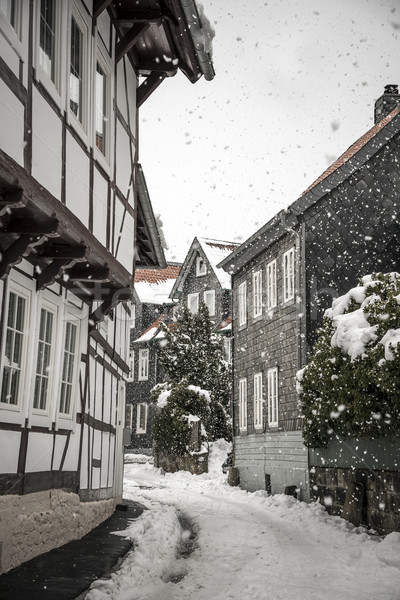 Sidestreet with half-timbered houses Stock photo © w20er