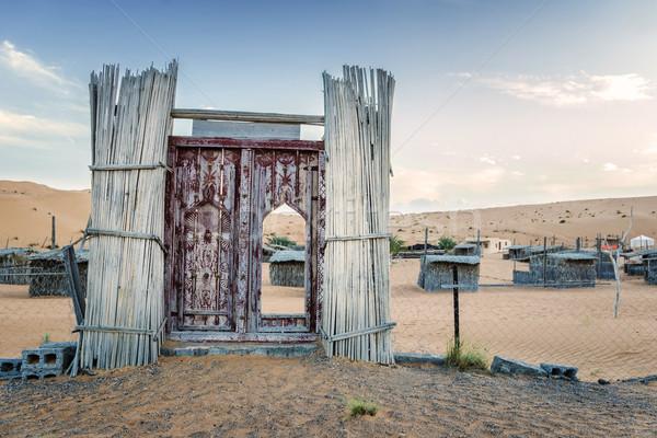 вход пустыне лагерь Оман пейзаж песок Сток-фото © w20er