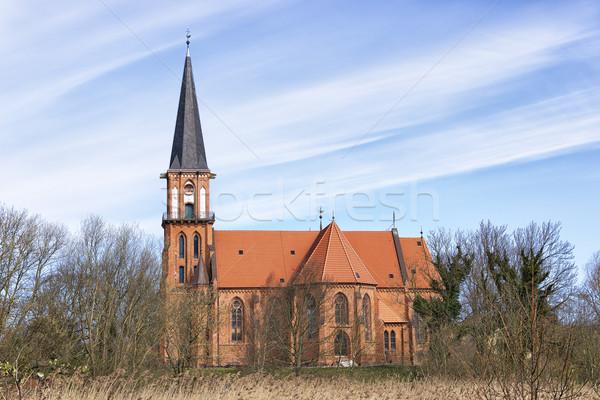 Típico igreja mar báltico quadro vermelho tijolo Foto stock © w20er