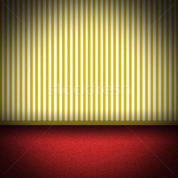 実例 レッドカーペット 階 黄色 縞模様の ルーム ストックフォト © w20er