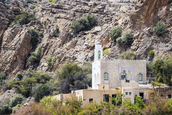 Mesquita planalto imagem Omã estrada natureza Foto stock © w20er