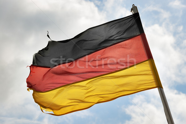 german flag in wind Stock photo © w20er