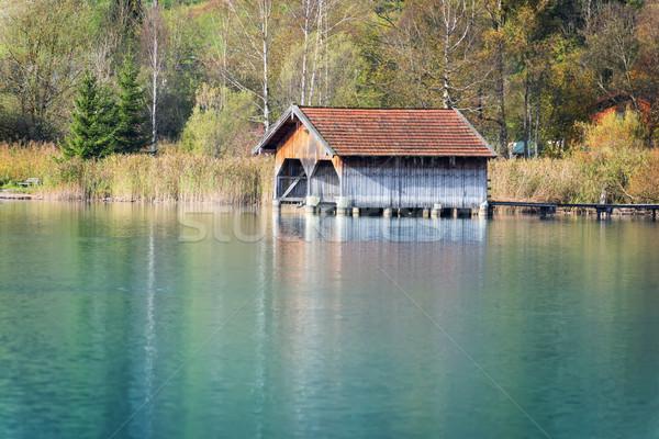 Göl görüntü su ev deniz tekne Stok fotoğraf © w20er