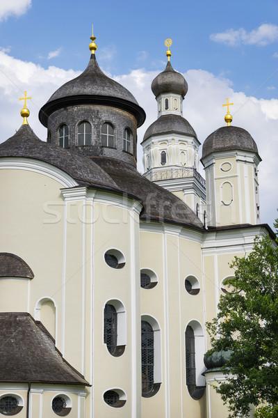 Bedevaart kerk foto Duitsland gebouw landschap Stockfoto © w20er